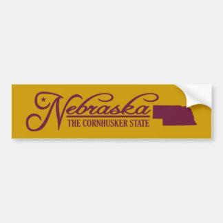 Nebraska (State of Mine) Bumper Sticker