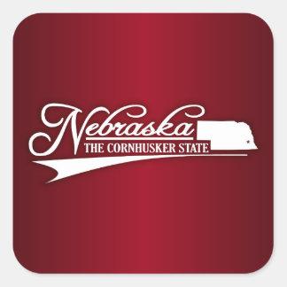 Nebraska State of Mine Square Sticker
