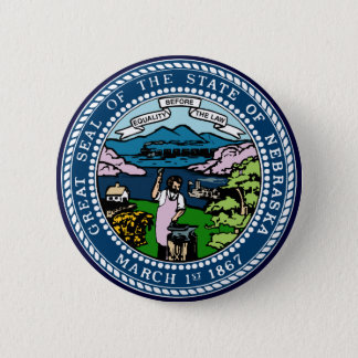 Nebraska State Seal 6 Cm Round Badge