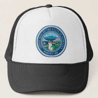 Nebraska state seal america republic symbol flag trucker hat