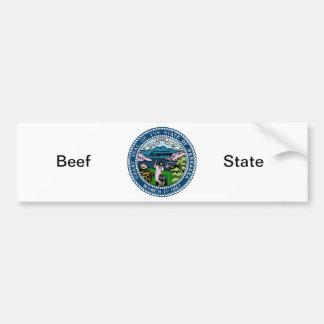 Nebraska State Seal and Motto Bumper Sticker