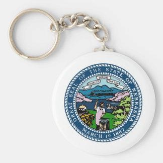 Nebraska State Seal and Motto Key Ring