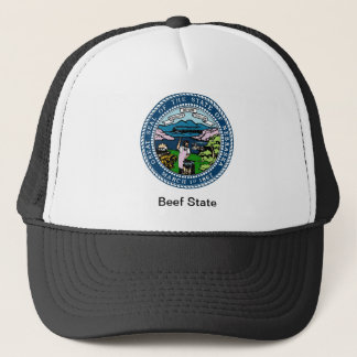 Nebraska State Seal and Motto Trucker Hat