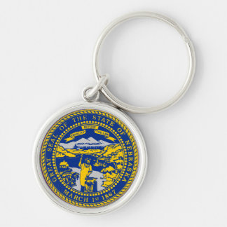Nebraska State Seal Key Ring