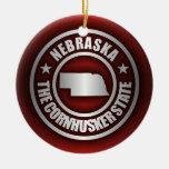 """Nebraska Steel 2"" Ornaments"