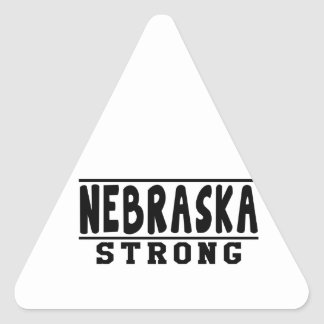 Nebraska Strong Designs Triangle Stickers