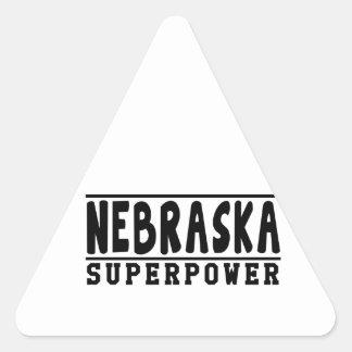 Nebraska Superpower Designs Triangle Sticker