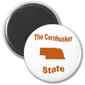 Nebraska The Cornhusker State Fridge Magnet