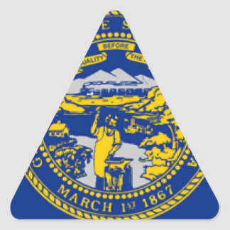 Nebraska Triangle Sticker