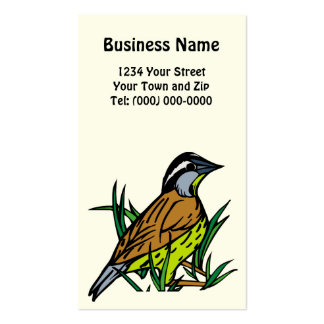 Nebraska Western Meadowlark Business + App. Card Pack Of Standard Business Cards