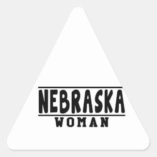 Nebraska woman designs triangle sticker