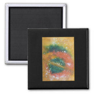 Nebula and Planets. Square Magnet