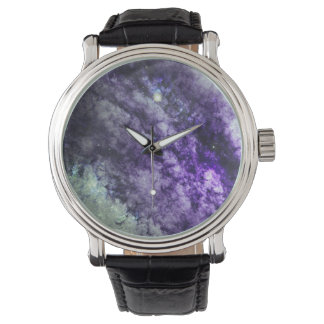 Nebula and Star In Amethyst Watches