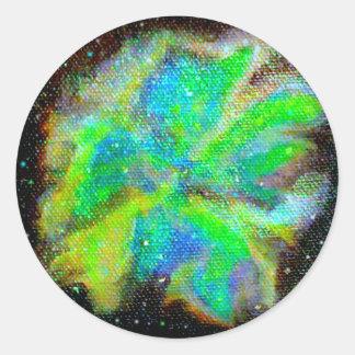 Nebula and Stardust Cosmic Space Scene Round Sticker