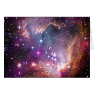 Nebula bright space stars galaxy hipster geek cool greeting card