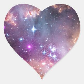 Nebula bright space stars galaxy hipster geek cool heart sticker