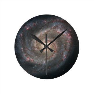 Nebula bright stars galaxy hipster geek cool space round clock