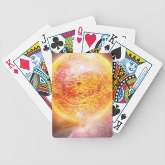 Nebula Burning Brightly Bicycle Playing Cards