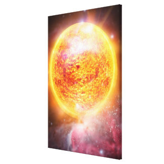 Nebula Burning Brightly Canvas Print