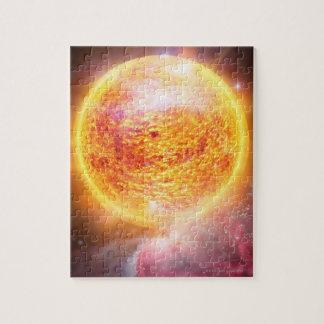 Nebula Burning Brightly Jigsaw Puzzle