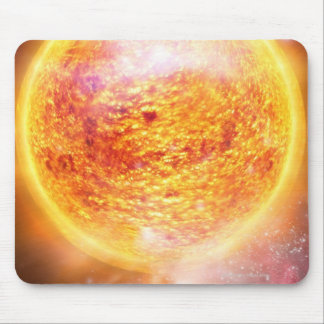 Nebula Burning Brightly Mouse Pad