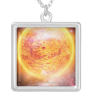 Nebula Burning Brightly Silver Plated Necklace