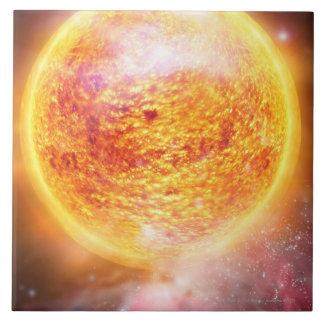 Nebula Burning Brightly Tile