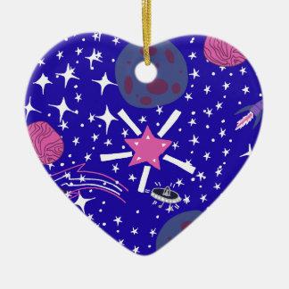 nebula ceramic heart decoration