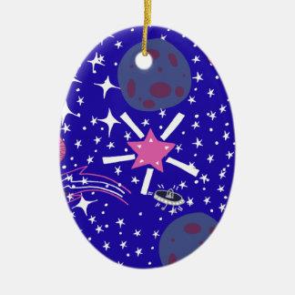 nebula ceramic oval decoration