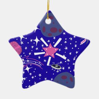 nebula ceramic star decoration