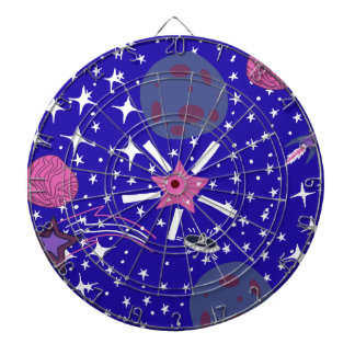 nebula dartboard with darts