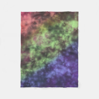 Nebula Digital Watercolor Painting Fleece Blanket