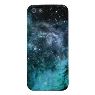 Nebula Galaxy Stars Blue Teal Case For iPhone 5/5S