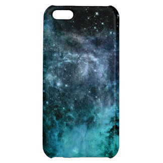 Nebula Galaxy Stars Blue Teal iPhone 5C Case