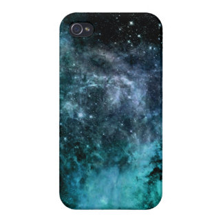 Nebula Galaxy Stars Blue Teal Cases For iPhone 4