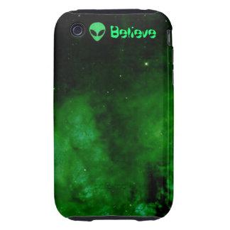 Nebula in Alien Green iPhone 3 case