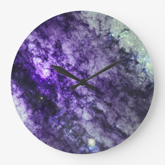 NEBULA IN PURPLE WALL CLOCK