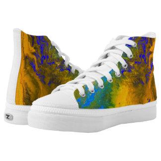 Nebula landscape printed shoes
