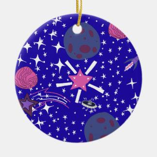 nebula round ceramic decoration