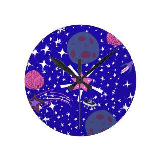 nebula round clock