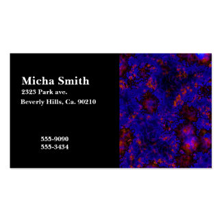 Nebula Space Explosion Monogram Pack Of Standard Business Cards