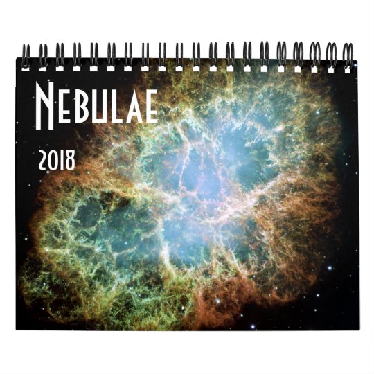 Nebulae Space Astronomy 2018 Stars NASA Wall Calendar