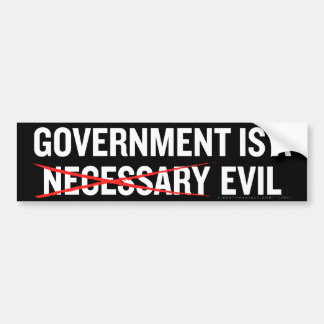 Necessary Evil Bumper Sticker