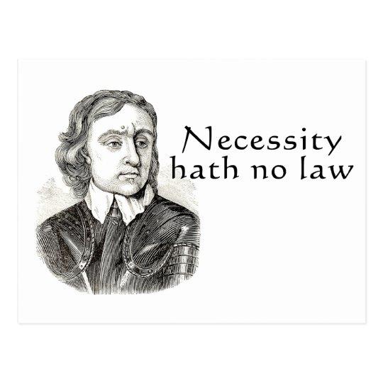 Necessity Hath No Law Postcard