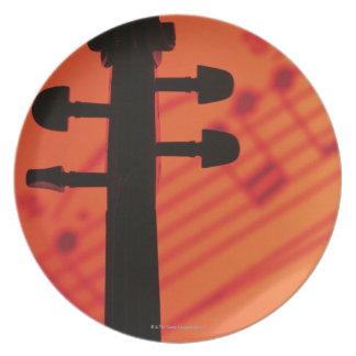 Neck of Violin Plate
