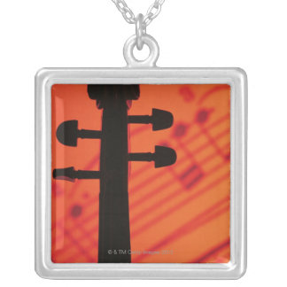 Neck of Violin Silver Plated Necklace