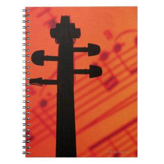 Neck of Violin Spiral Notebook