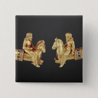 Neck ring in the form of Scythian horsemen 15 Cm Square Badge