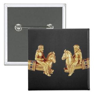 Neck ring in the form of Scythian horsemen 15 Cm Square Badge