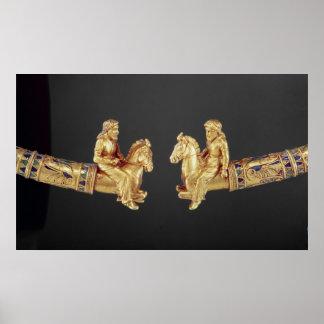 Neck ring in the form of Scythian horsemen Poster
